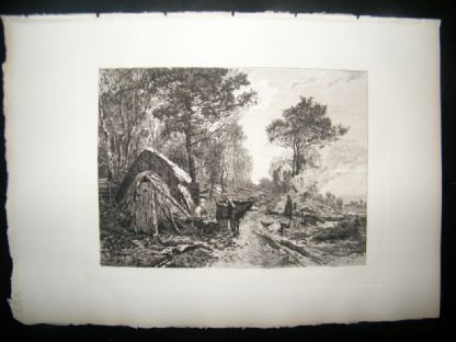 A. Masse after E. Dameron 1885 Etching. The Woodcutters | Albion Prints